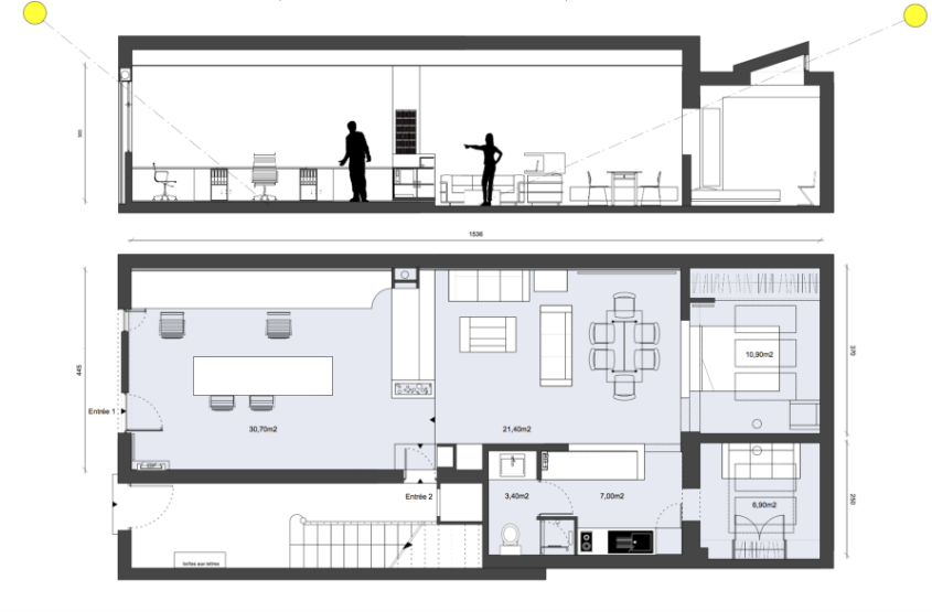 5e - Camas - Loft - Atelier architecte - 189 000€